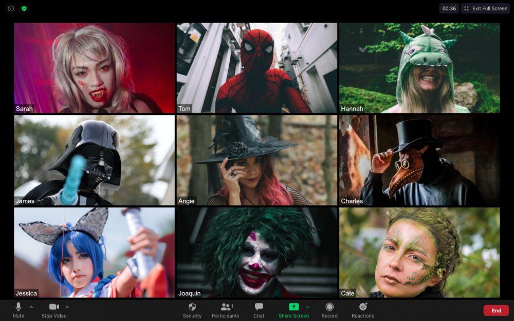 Halloween Zoom Gathering