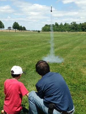 Model Rocketry Class launch