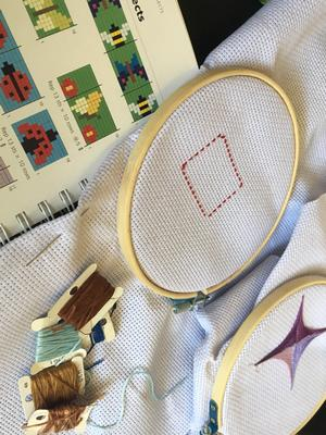 Skip Counting & Cross Stitch Spring 2019