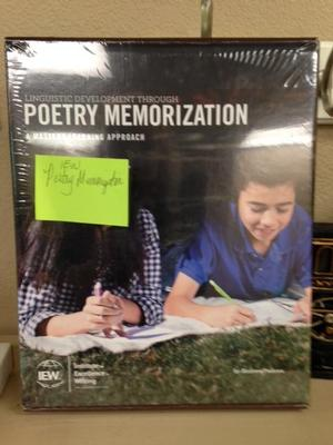 IEW Poetry Memorization