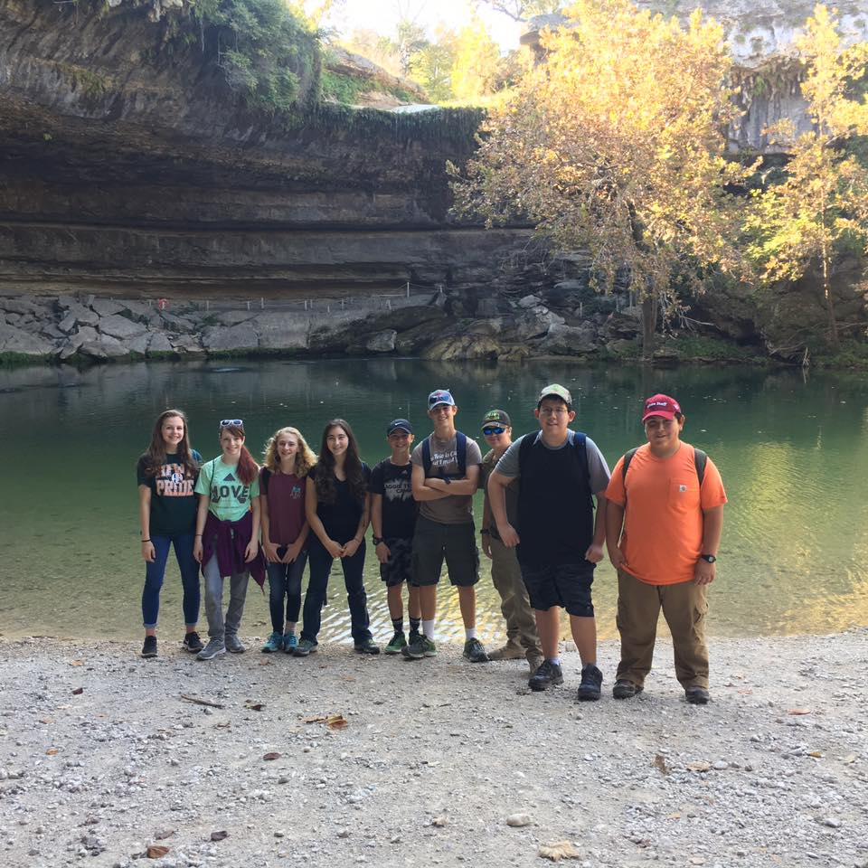 Harlingen Homeschool Academy Learning Geology at Hamilton Pool
